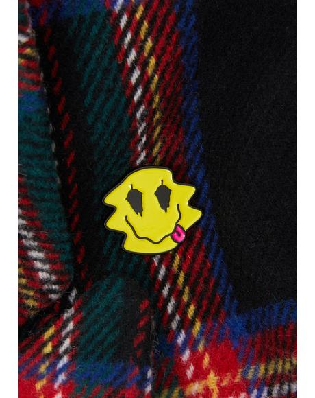 Trippy Face Pin
