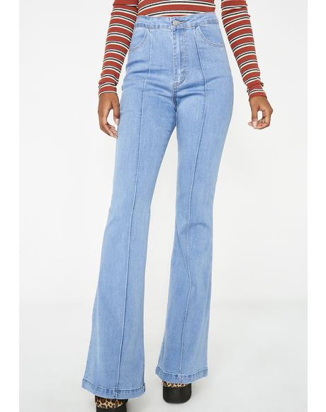 Groovy Gal High-Rise Flares