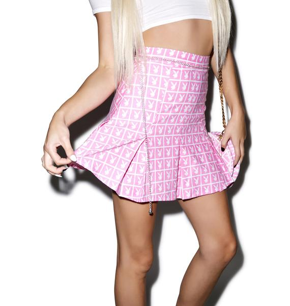Joyrich X Playboy Panel Pleated Skirt