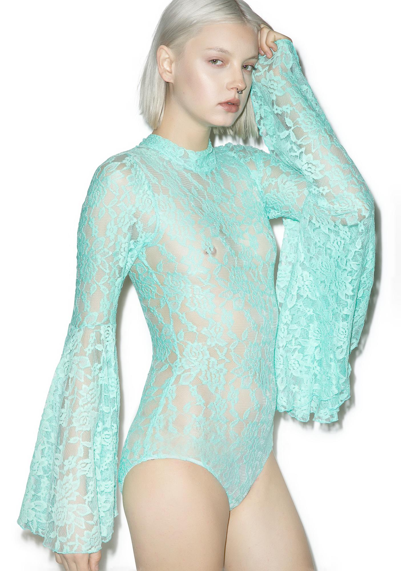 Little Black Diamond Aqua Stevie Bodysuit