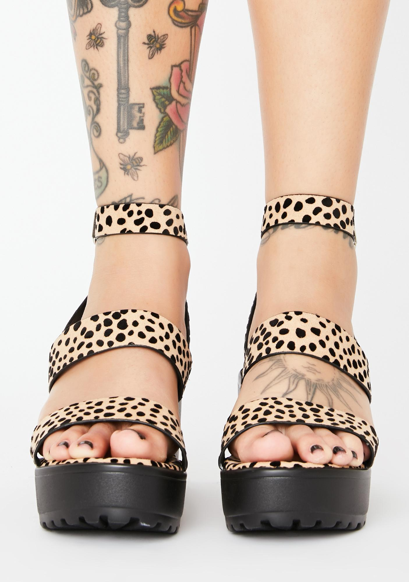Kitty Here For It Platform Sandals