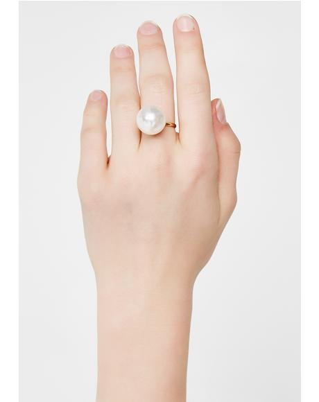 Pearly White Ring