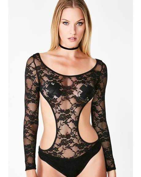 Triple X Rated Lace Bodysuit