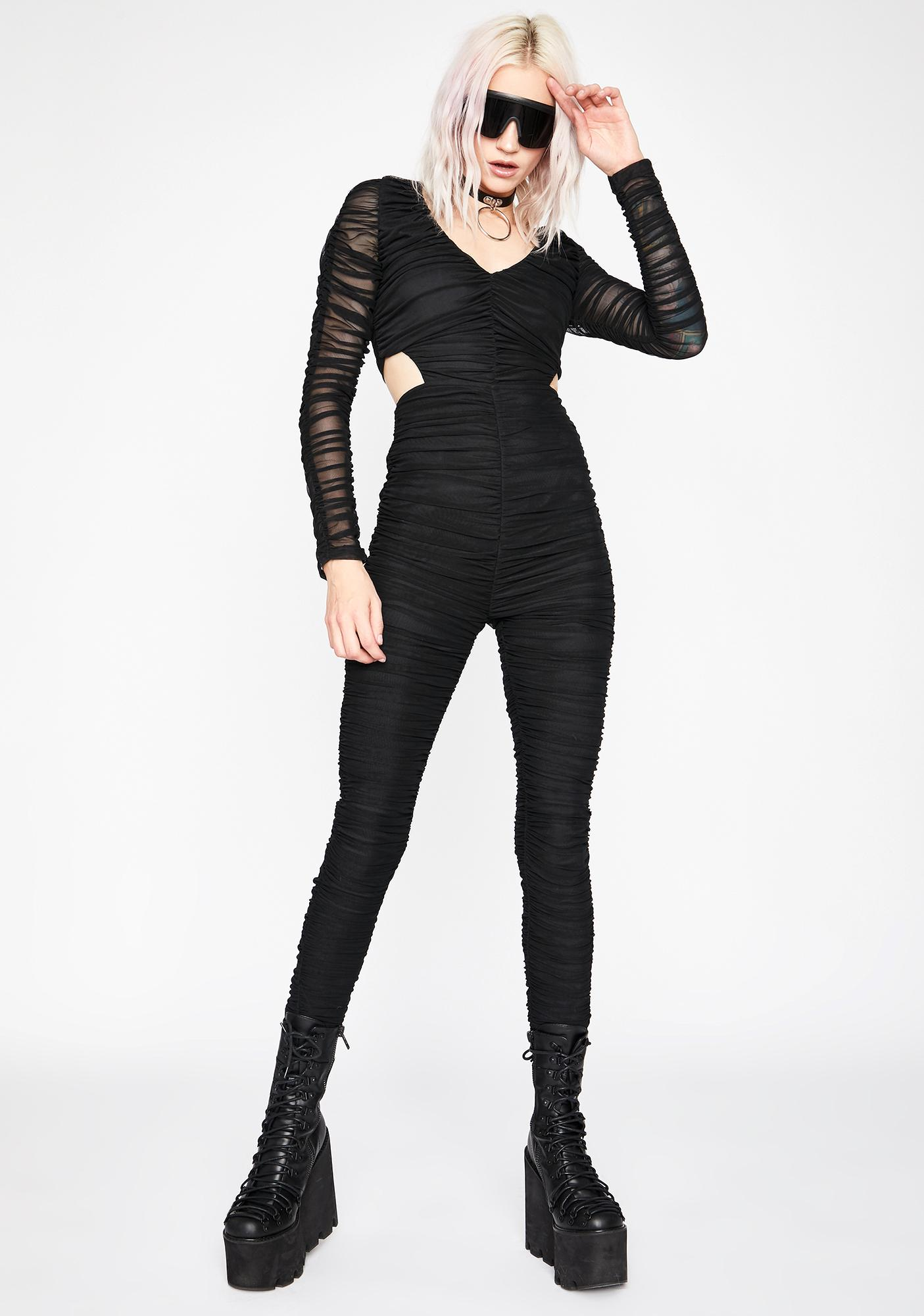 Da Bomb Ruched Catsuit