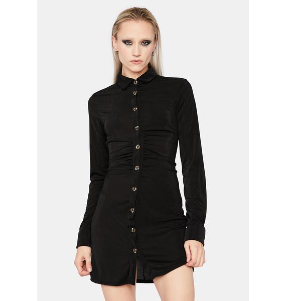 The Love Of You Collared Mini Dress
