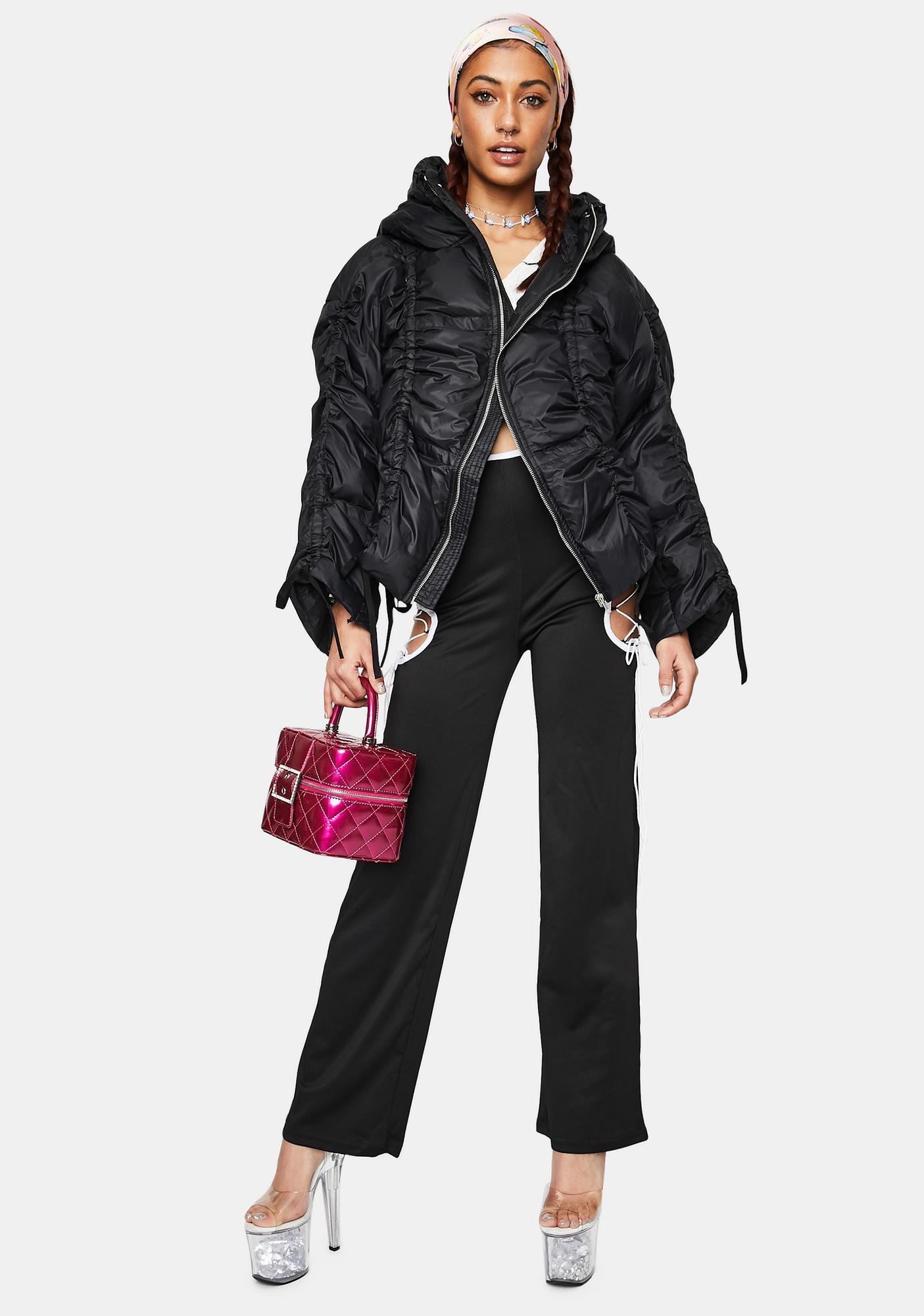 ZEMETA Pull Up Puffer Jacket