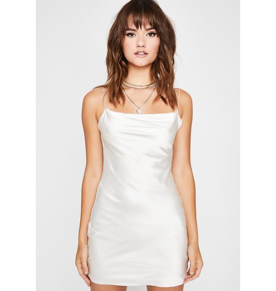 Pearl Evening Appeal Satin Dress