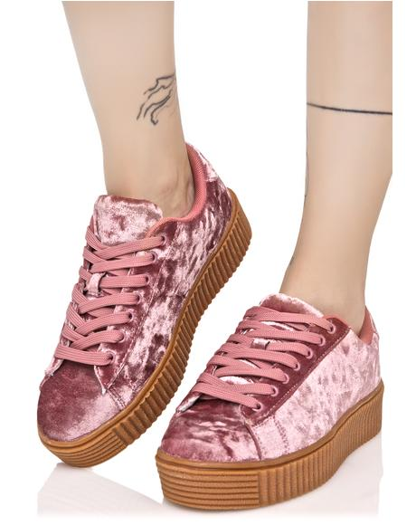 Blush Lyn-Z Velvet Creeper Sneakers