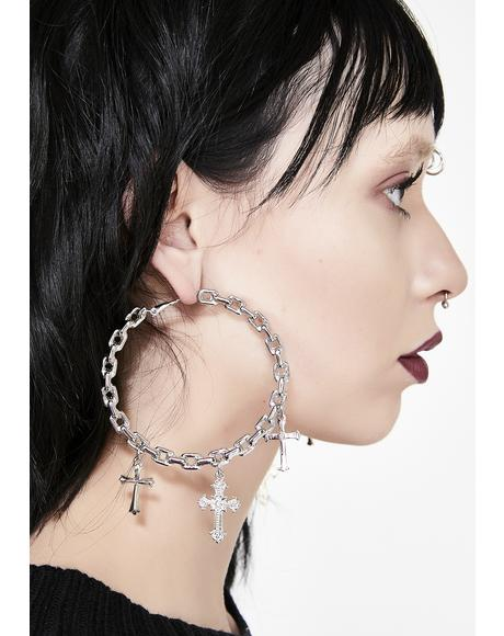 Unholy Vow Hoop Earrings