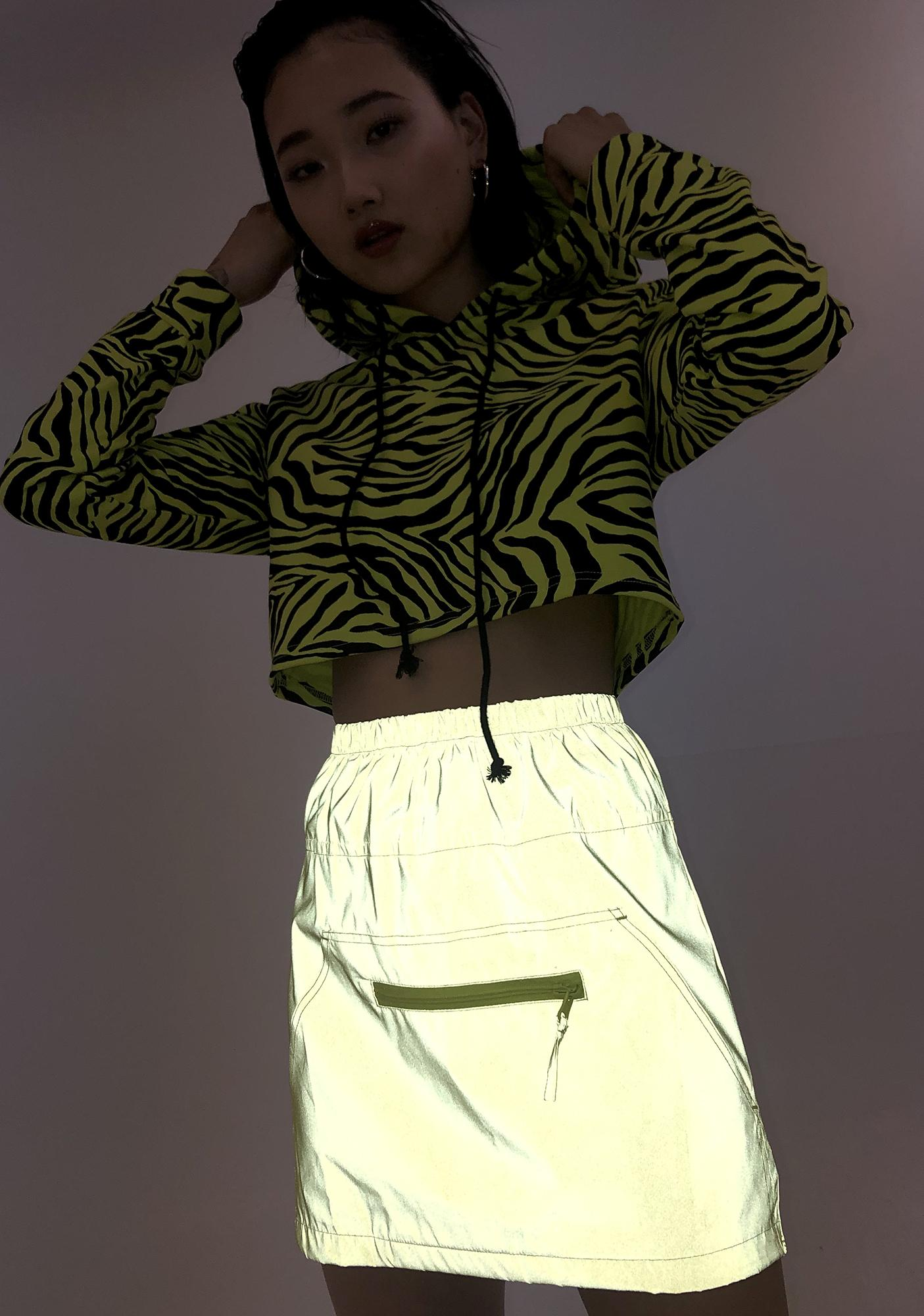 Rojas Reflective Mini Skirt