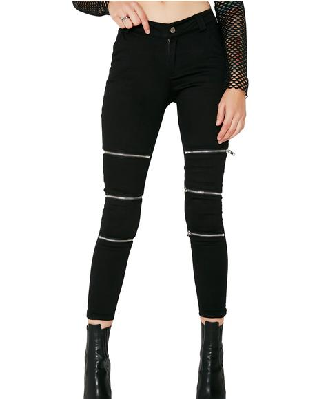 Zip Your Lip Skinny Zipper Jeans