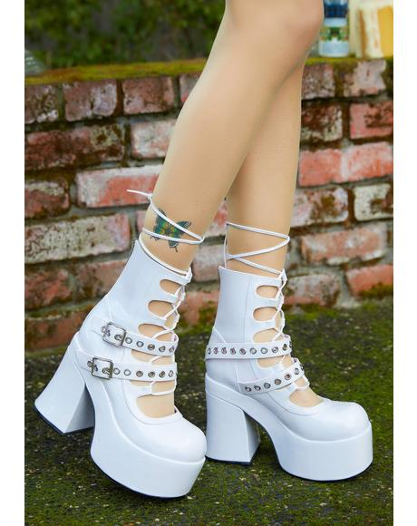 Stay With Me Strapped Buckle Booties