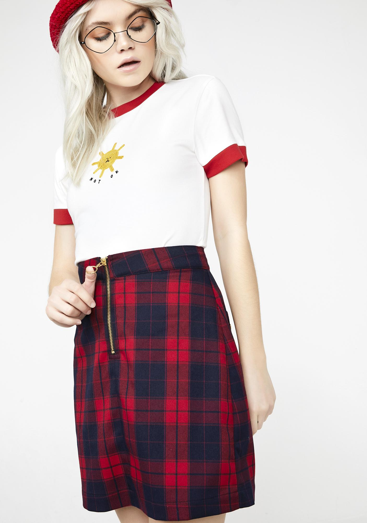 Lazy Oaf Sorry We're Closed Skirt