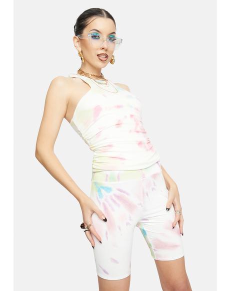 Blank Spiral Lawson Tie Dye Biker Shorts