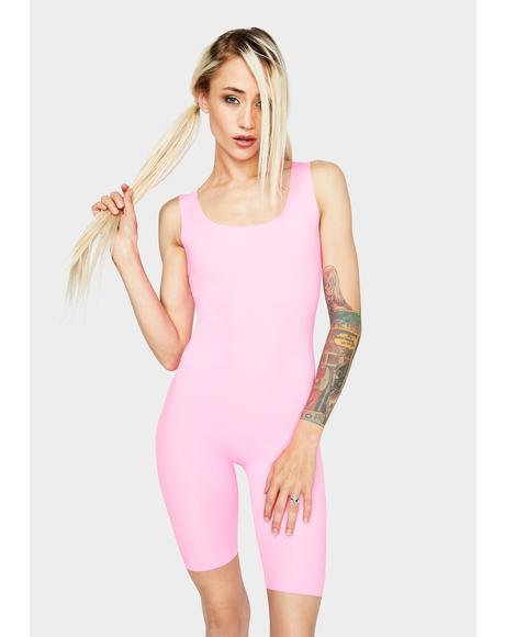 Pink Glowin' N' Growin' Tank Playsuit