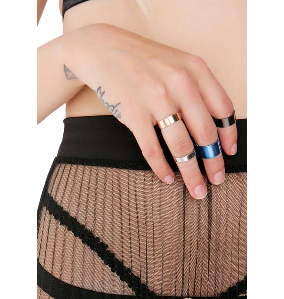Precious Metals Midi Ring Set