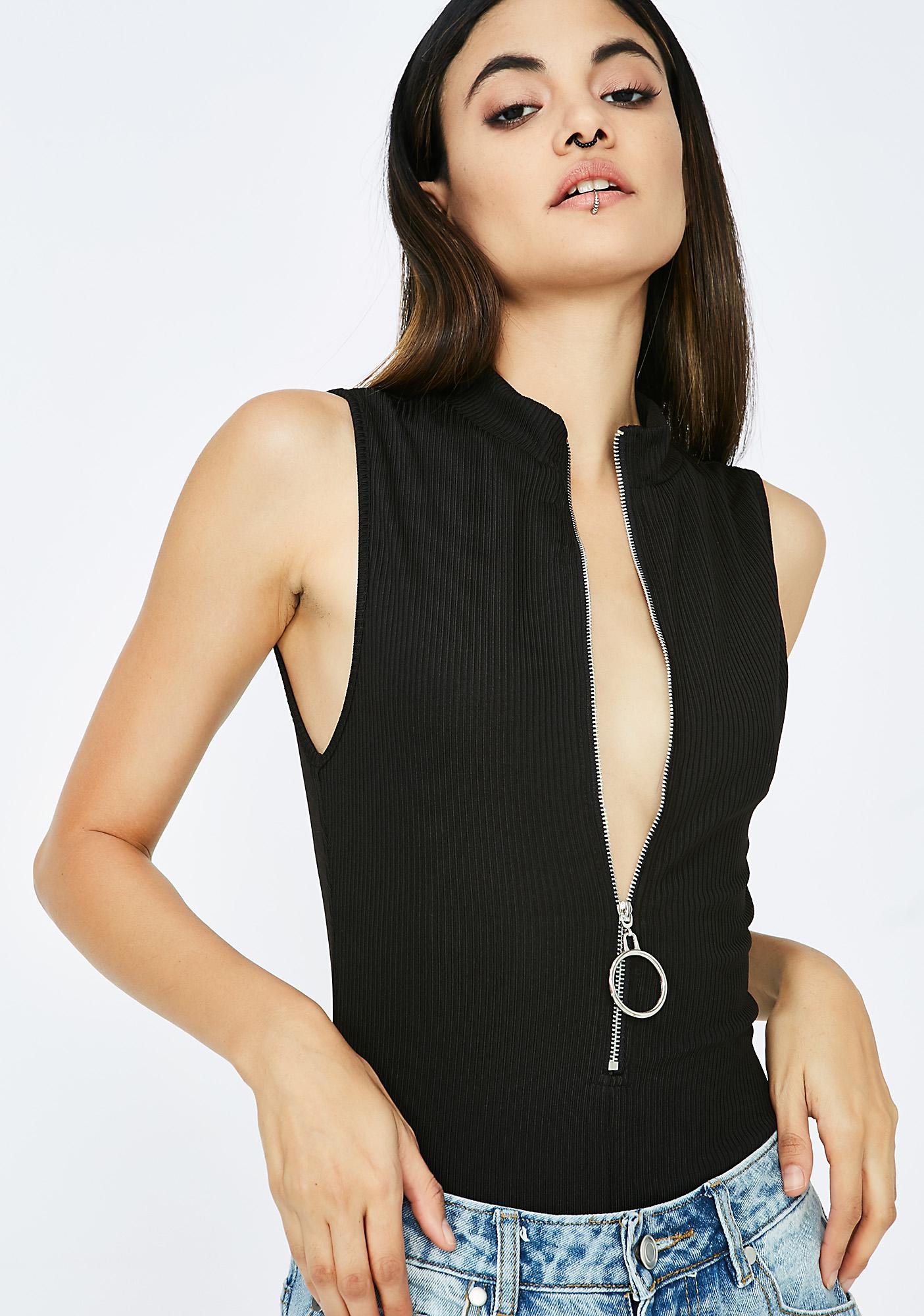 Issa Vibe Zip-Up Bodysuit