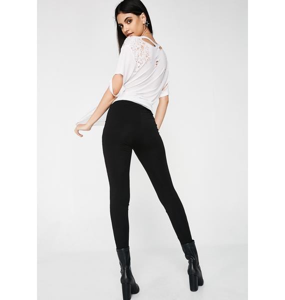 Kiki Riki Sheer Genius Embellished Leggings