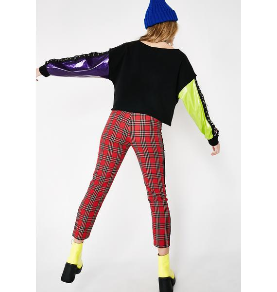 Rise Up Plaid Pants