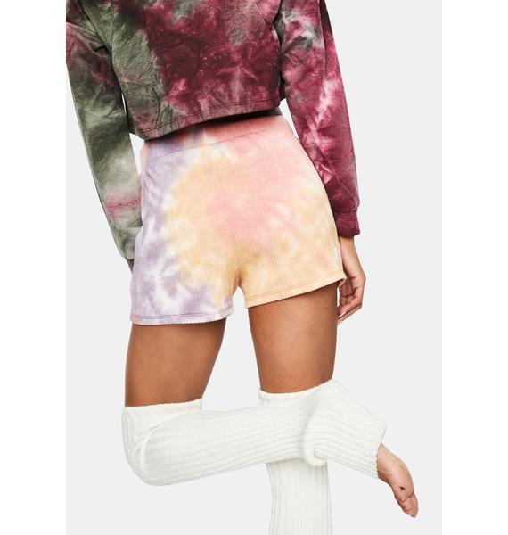 Daisy Street Tie Dye Lounge Shorts