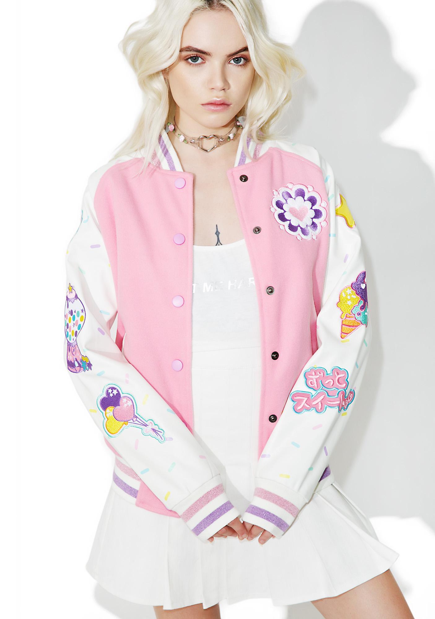 Japan L A X Miss Kika Stay Sweet Varsity Jacket Dolls Kill