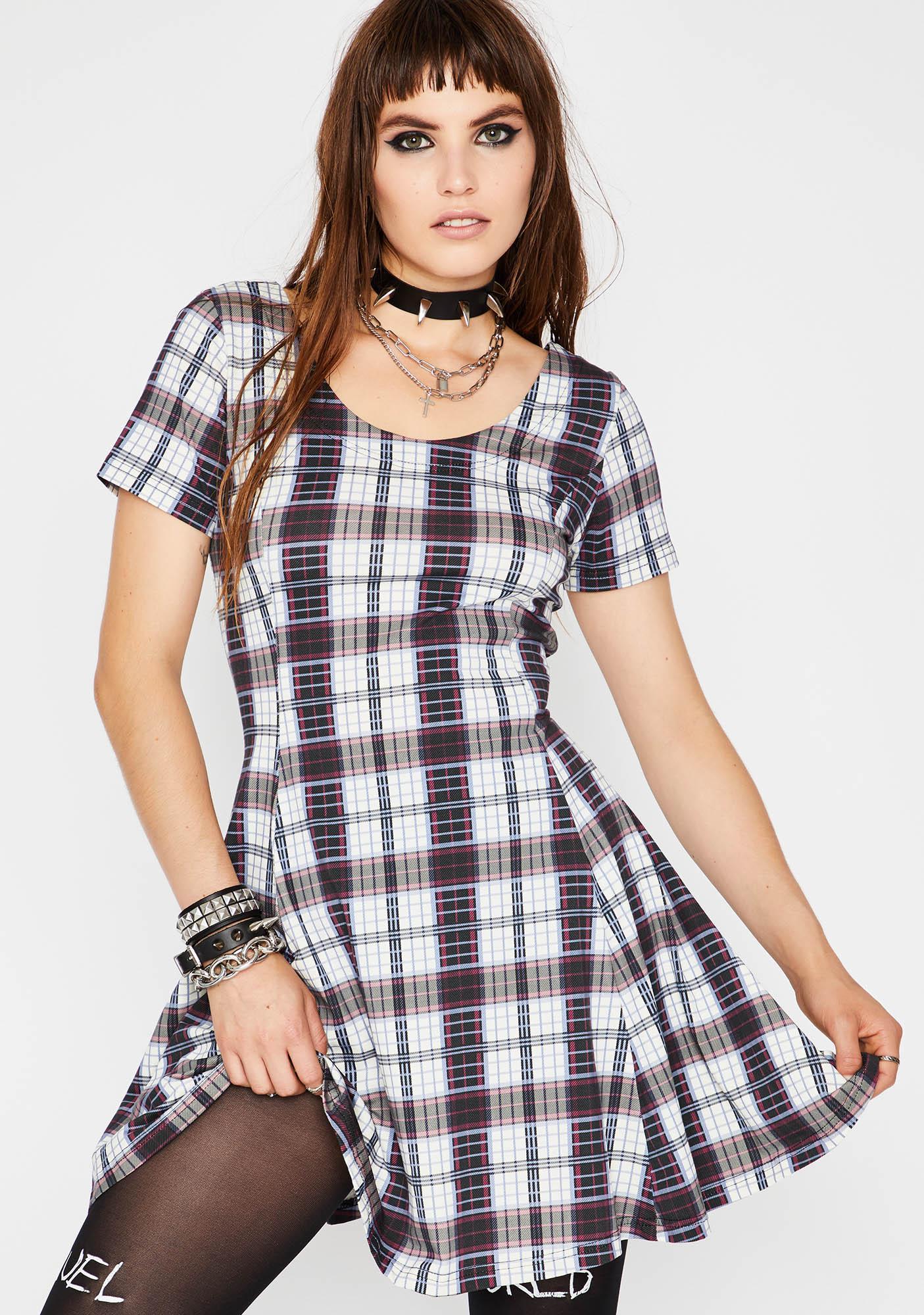 Current Mood Plaid To The Bone Mini Dress