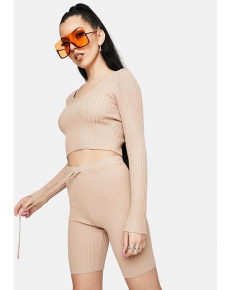 Pop Princess Ribbed Lounge Shorts Set