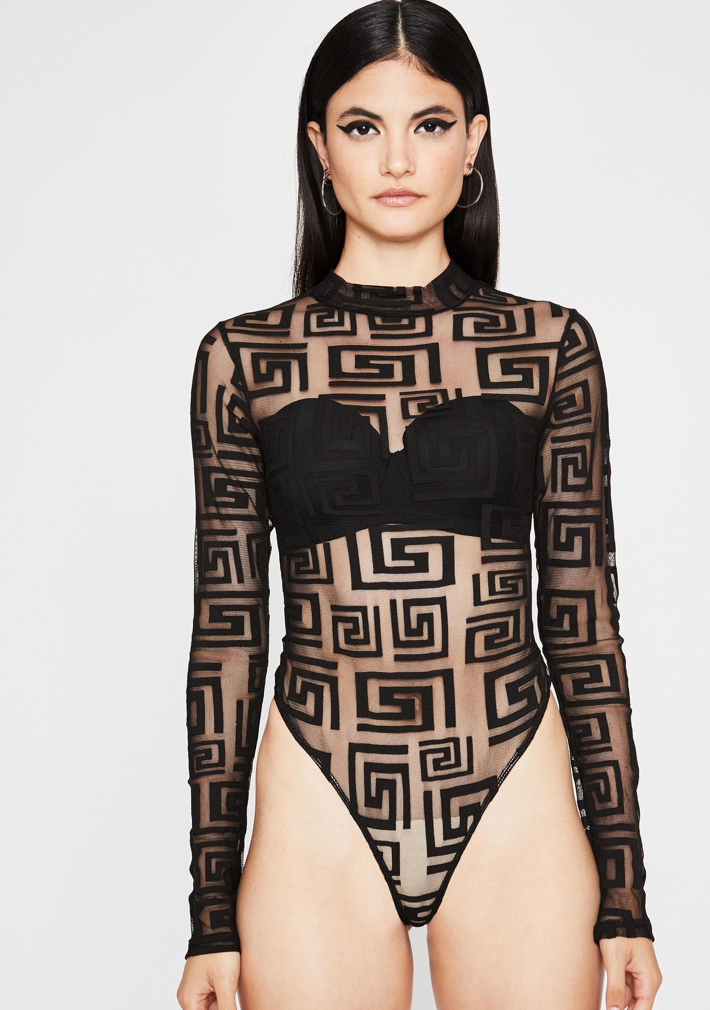 Unholy Ancient Element Sheer Bodysuit