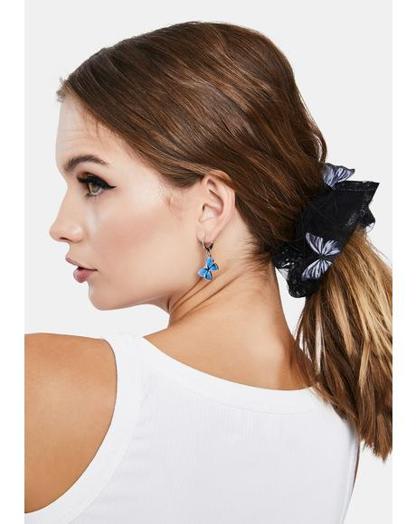 Aqua Sky High Butterfly Earrings