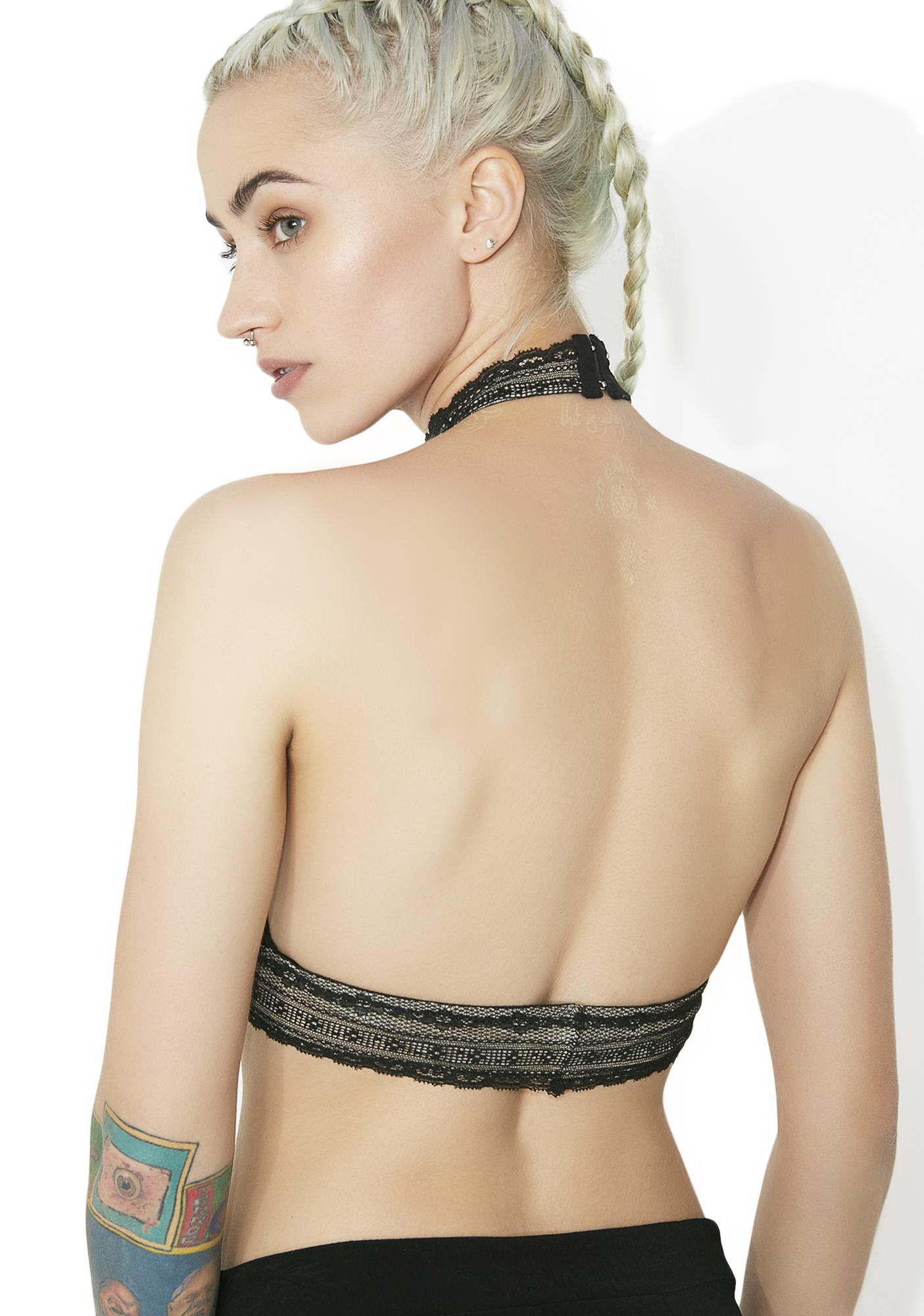 Smoke Subtle Affection Halter Bralette