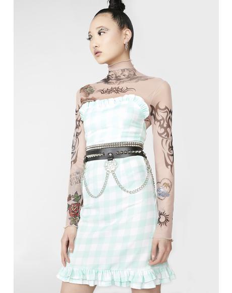 Gingham Pastel Dress