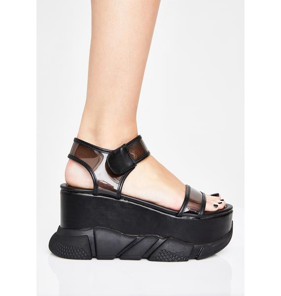 Wicked Superfly Sass Platform Sandals