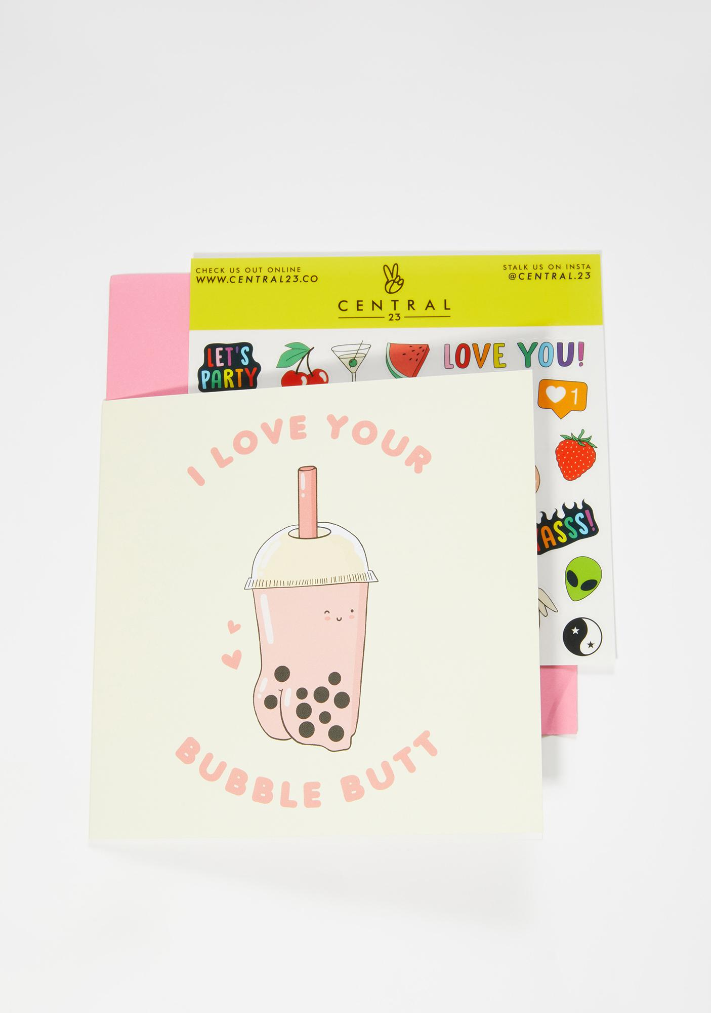 Central 23 I Love You Bubble Butt Card