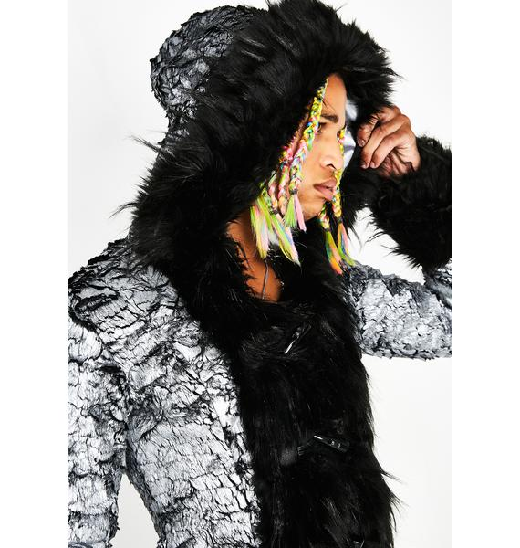 Club Exx Cosmic Gangster Unisexx Fur Coat
