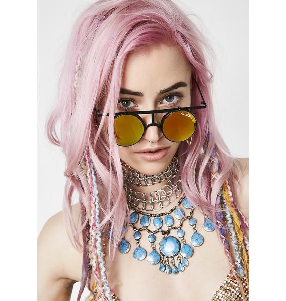 GloFX Vintage Round Flip Glasses