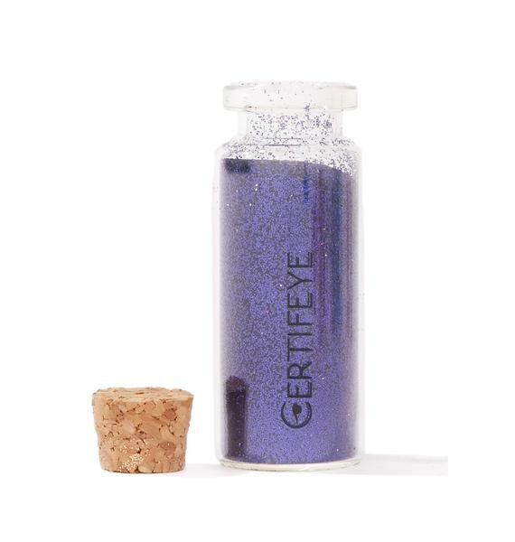 Certifeye Deep Purple Full Glitter Bottle