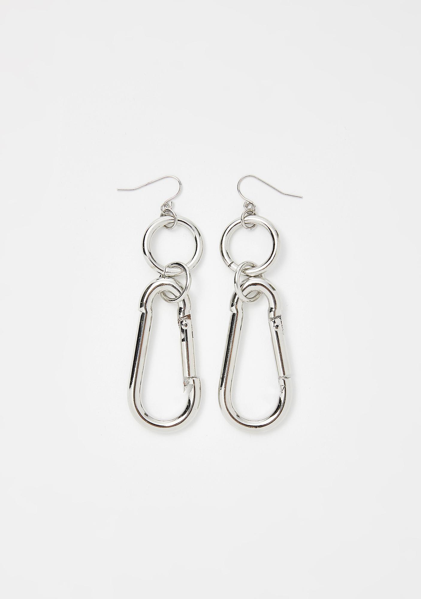 Industrial Scene Clip Earrings