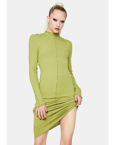 Pure Imagination Lettuce Trim Maxi Dress