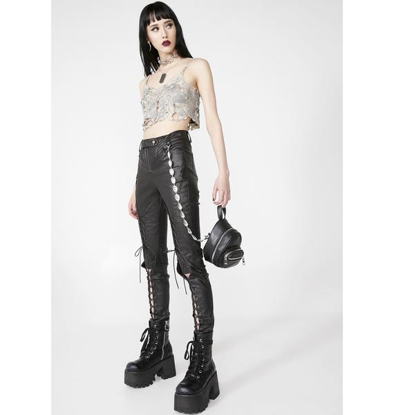 Punk Rave Punk Pressure Adhesive Woven Trousers