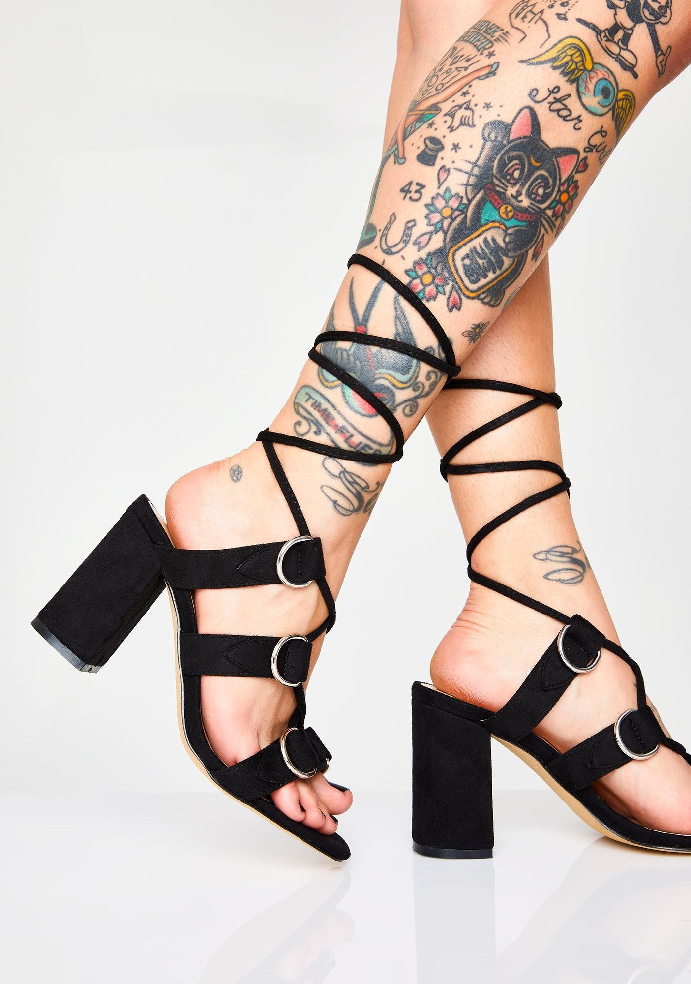 Public Desire Hooked Lace Up Heels