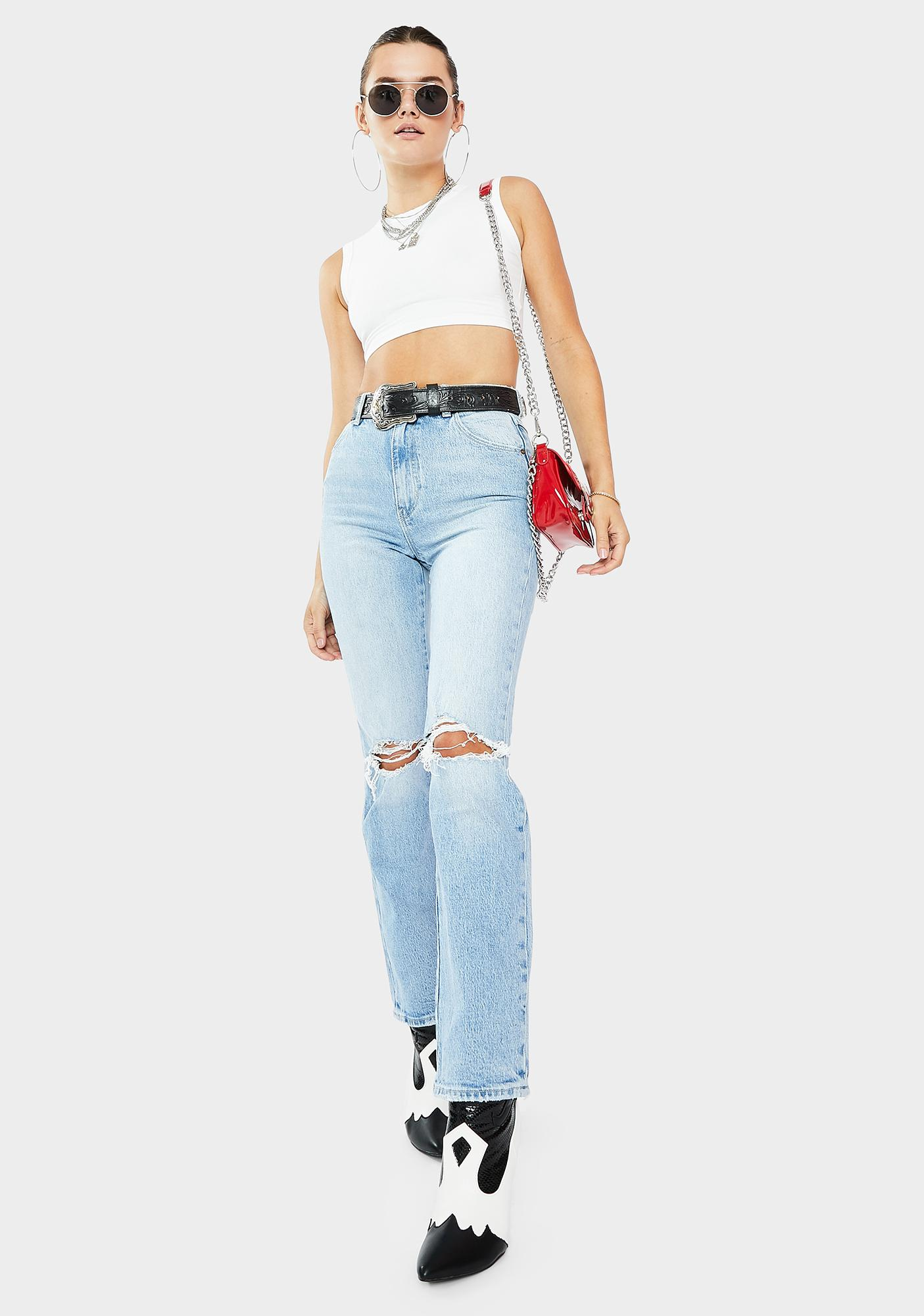 Rollas Duster Ripped Denim Jeans