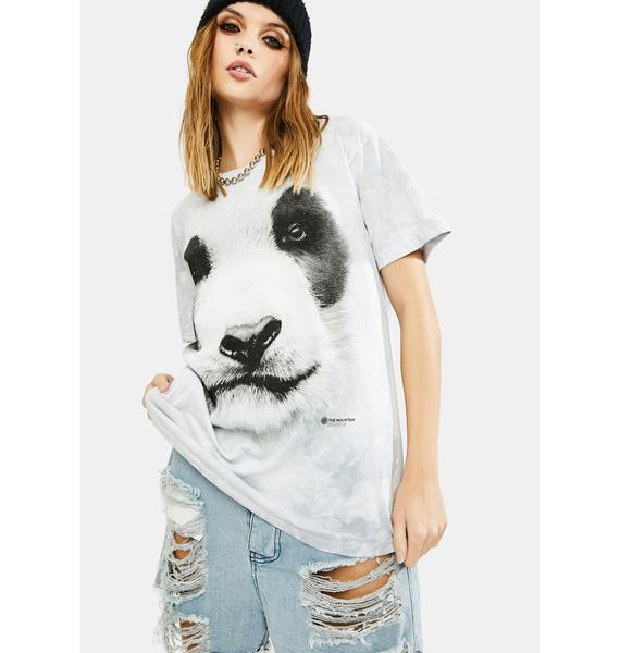 The Mountain Big Face Panda Graphic Tee