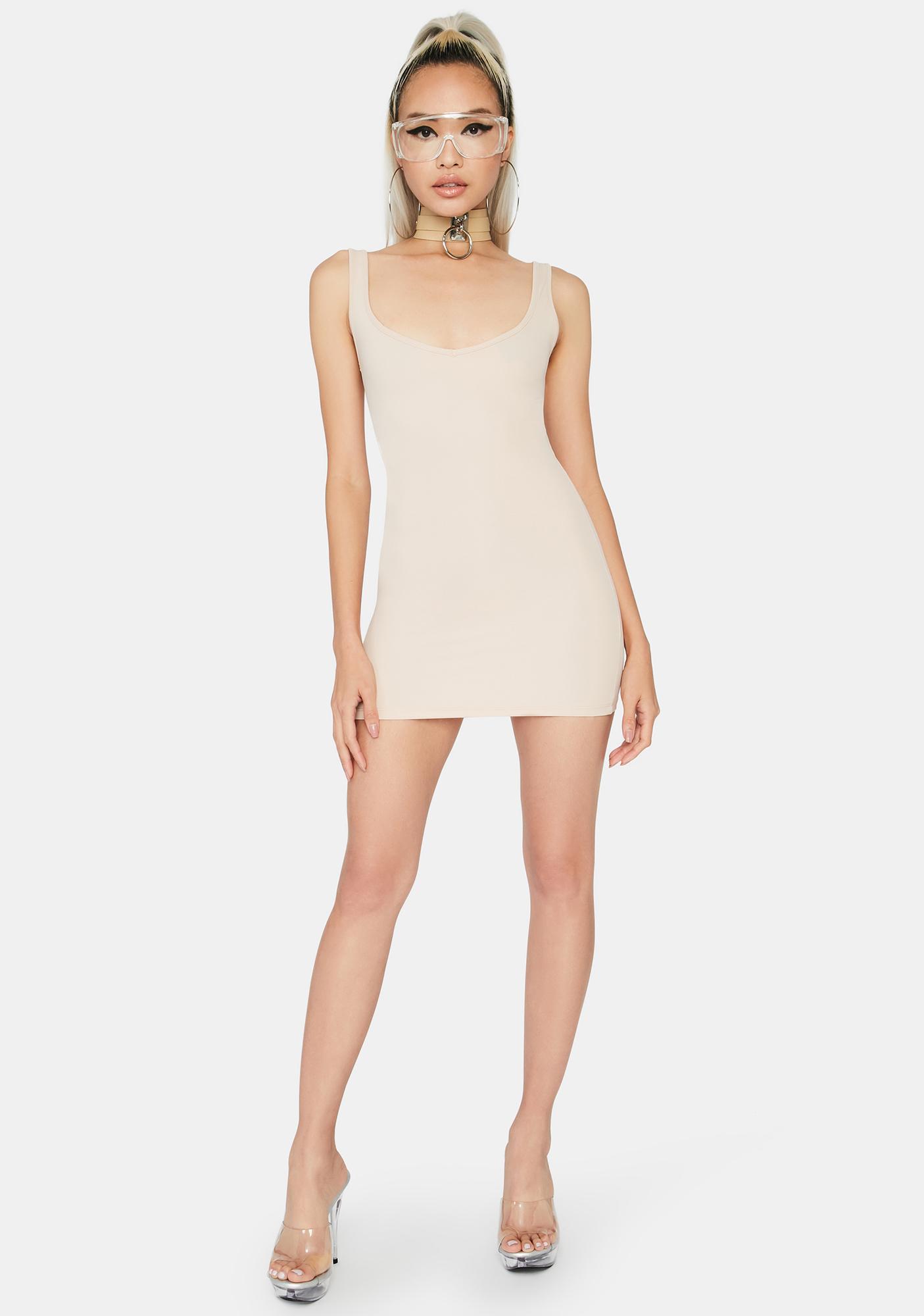 Kiki Riki Tan Boss Up Mini Dress