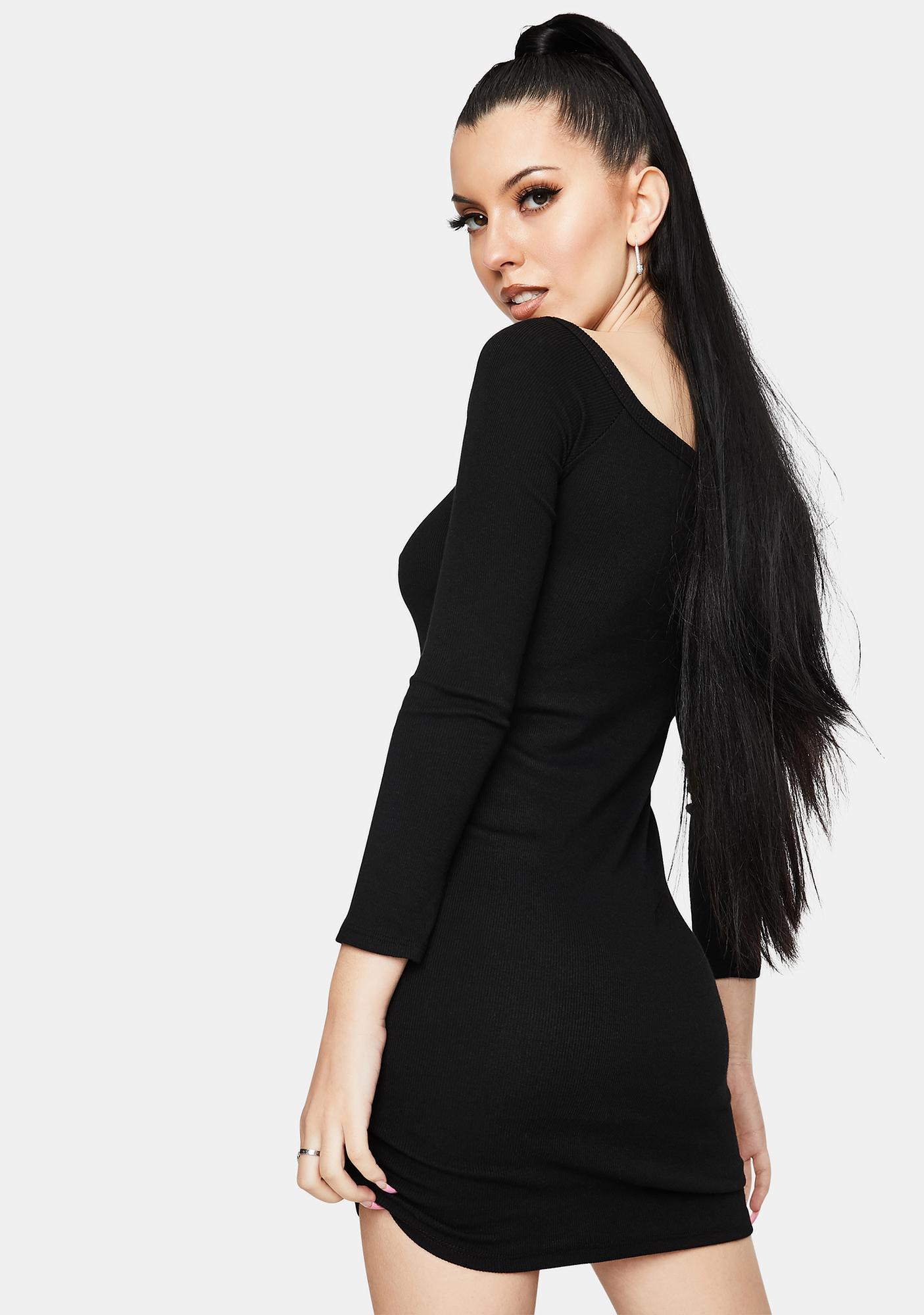 Get The Gossip Long Sleeve Mini Dress