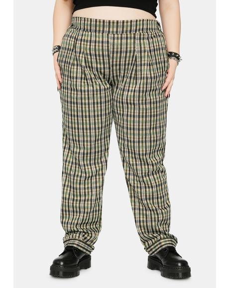 Ivy Too Bad For U Plaid Trousers