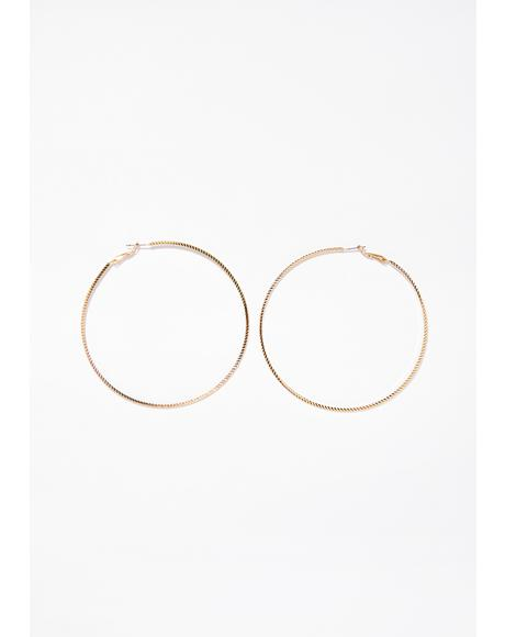 Winners Circle Hoop Earrings