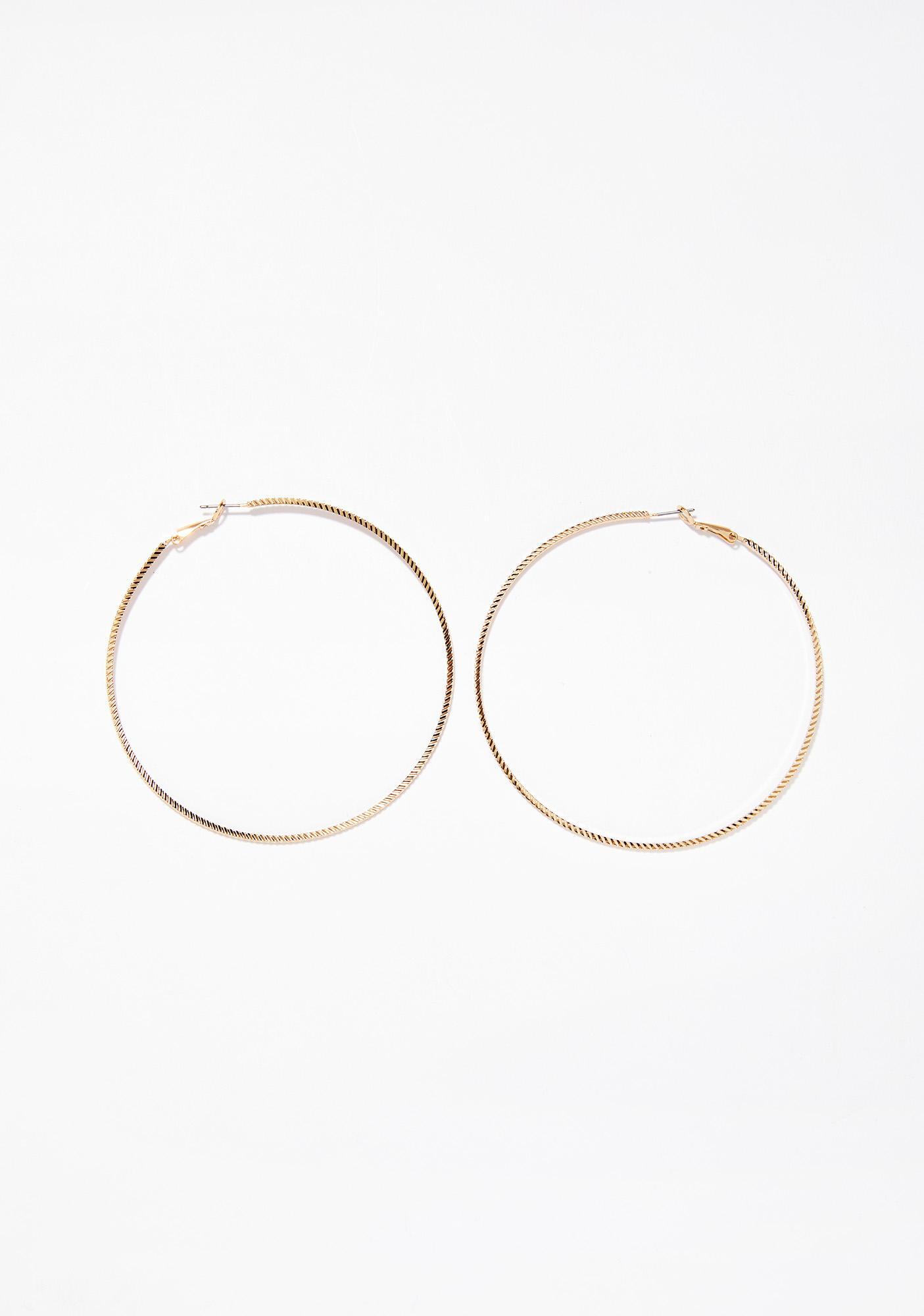Winners Circle Hoop Earrings