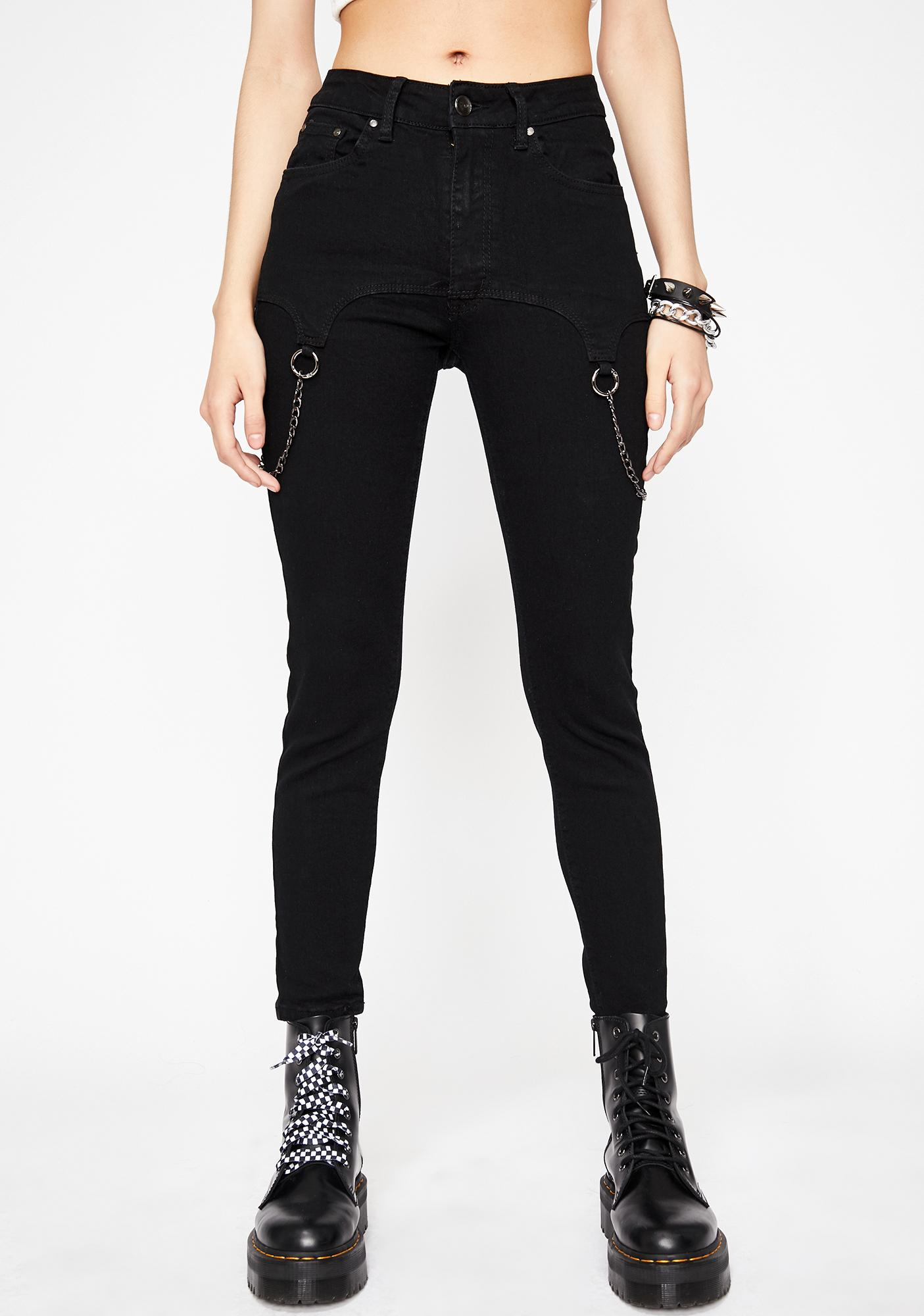 Night Chained Gang Skinny Jeans