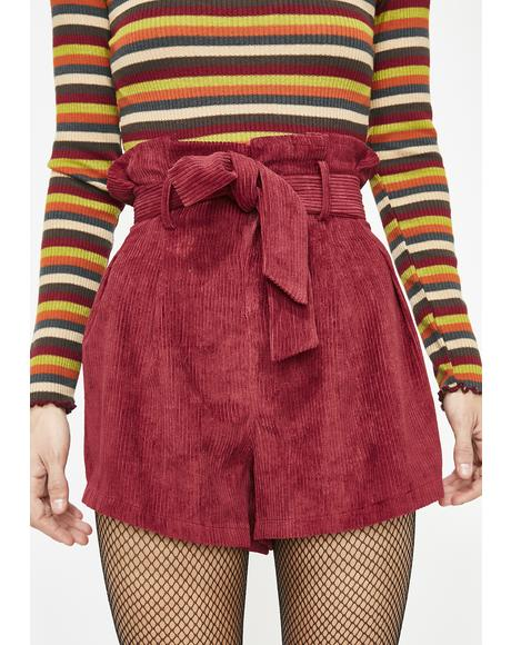 Lovers Quarrel Corduroy Shorts