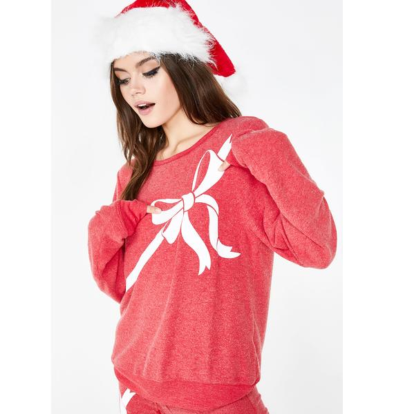 Wildfox Couture Gift Wrapped Baggy Beach Jumper